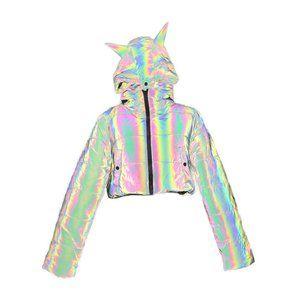 Dolls Kill Night Savage Signalz Reflective Jacket